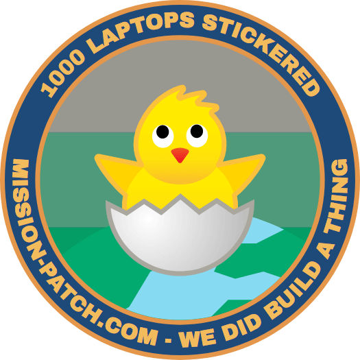 Over 1000 laptops stickered!