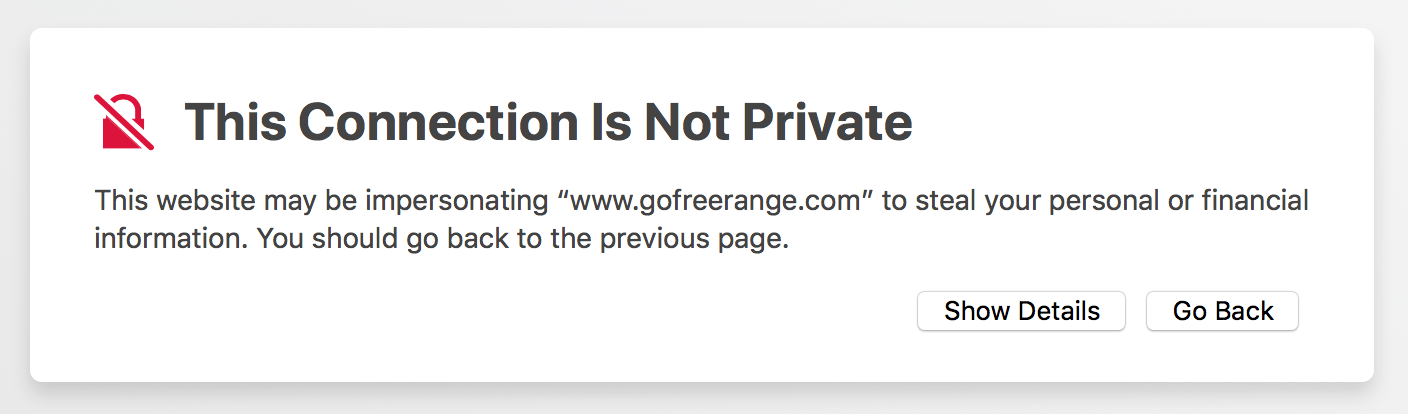SSL error in Safari