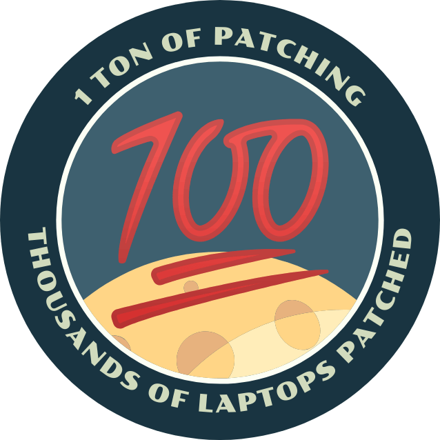 Mission Patch celebrating 100th Mission Patch order
