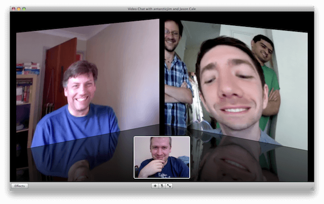 Multi-way Skype video-conference
